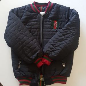 Gucci Kids Boys Puffy Coat with Snake Motif